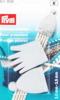 2 Nadelspielhalter für Nadelstärken 3,0–3,5 mm,- Stricknadelhalter von PRYM