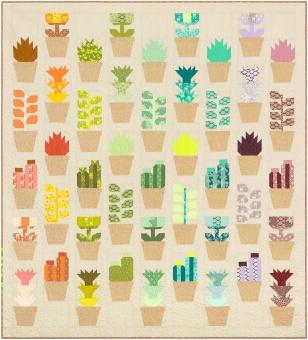 Greenhouse Pattern by Elizabeth Hartman - Patchworkdecke Gewächshaus Schnittmuster