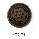 8 Jeansknöpfe - Reparaturknöpfe - 17mm Durchmesser / Altmessing / Altgold