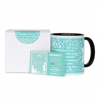 Scheepjes Limited Edition Tasse 165 Jahre - Kaffeebecher / Teetasse mit Gedicht zum Jubiläum