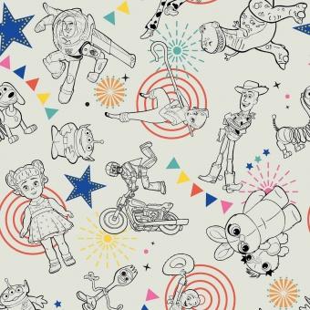 Original Toy Story Lizenzstoff - Pixar Woody, Buzz Lightyear & Co. Meterware Motivstoff