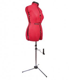 Rote Schneiderbüste Leg Form A - Schneiderpuppe für Damen mit Beinform