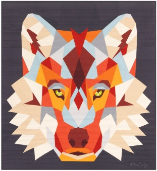 The Wolf Abstractions Quilt  - Wolfs Quilt by Violet Craft - FPP Anleitung / Schnittmuster