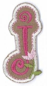 Aufbügelbare Buchstaben - Girls Just Wanna Have Fun Letters Alphabet Bügelapplikationen j