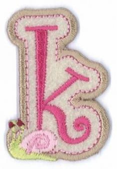 Aufbügelbare Buchstaben - Girls Just Wanna Have Fun Letters Alphabet Bügelapplikationen k