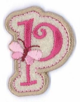 Aufbügelbare Buchstaben - Girls Just Wanna Have Fun Letters Alphabet Bügelapplikationen p
