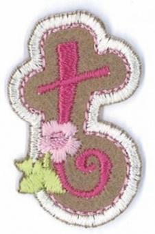 Aufbügelbare Buchstaben - Girls Just Wanna Have Fun Letters Alphabet Bügelapplikationen t