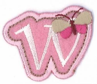 Aufbügelbare Buchstaben - Girls Just Wanna Have Fun Letters Alphabet Bügelapplikationen w
