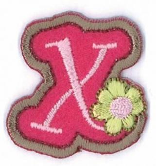 Aufbügelbare Buchstaben - Girls Just Wanna Have Fun Letters Alphabet Bügelapplikationen x