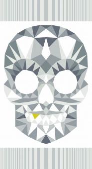 "Light Skull Panel mit Totenkopf - Libs Elliott ""The Watcher"" Designerstoff - Andover Fabrics Patchworkstoffe"