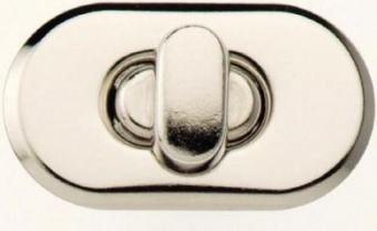 Ovaler Drehverschluss für selbstgenähte Taschen, silber - PRYM