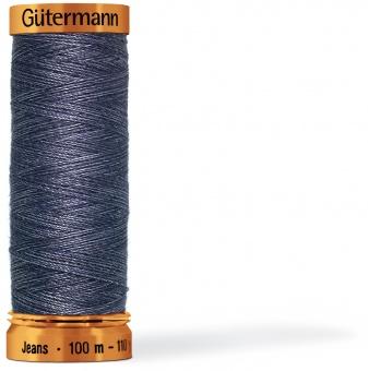 Jeansfaden No.50 100 m - Gütermann Jeansgarn - INDIGO
