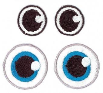Augen Bügelapplikation - Puppenaugen / Monsteraugen / Teddyaugen / Kawaii Kulleraugen