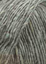 Donegal Tweed Strickgarn - Hochwertiges, irisches Tweedgarn - Lang Yarns - GROßE AUSWAHL! Hellgrau # 3