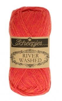 Scheepjes River Washed - ALLE FARBEN! Häkelgarn & Strickgarn mit 2-Tone Multicolor-Effekt #946 Mississippi