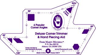 Eselsohren Multifunktionslineal - DELUXE Corner Trimmer Dog Ear Ruler - Marti Michell