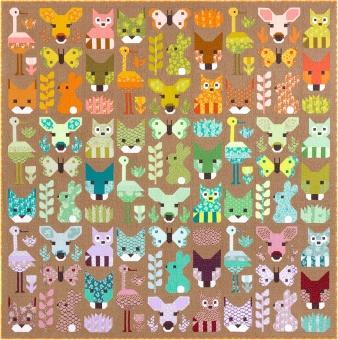 Delightful Desert Pattern by Elizabeth Hartman - Patchworkdecke Schnittmuster