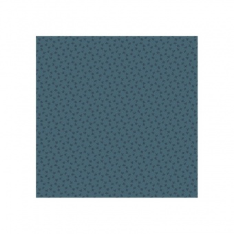 Blauer Ton-in-Ton Basicstoff - Deep Teal Clover Leaves Bijoux by Kathy Hall - Tonal Ditsy Patchworkstoffe von Makower UK