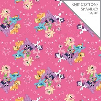 """""""Mein kleines Pony"""" JERSEYSTOFF - Rainbowdash, Pinkiepie & Co. - """"My Little Pony"""" Lizenzstoff - Baumwolljersey mit Spandex"""