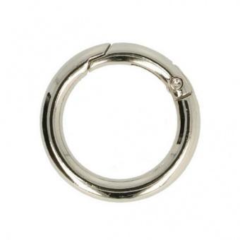 30mm Ring mit Klickveschluss - Silberner Metall O-Ringe für Taschen, Schlüsselkarabiner & Co.