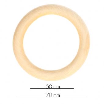 Holzring für Babyspielzeuge - 7cm / 70mm Durchmesser -  Beißring / Rasselring / Greifring