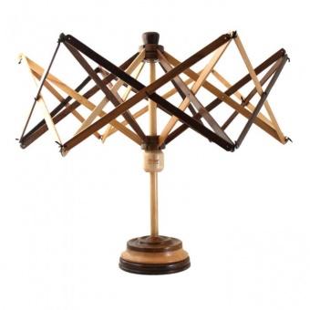 Rosenholz & Buchenholz Standhaspel / Schirmhaspel / Wollhaspel / Stranghaspel - 60cm Holzhaspel mit Tischständer