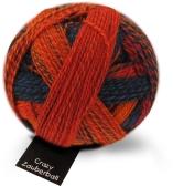 Crazy Zauberball Sockengarn mit Farbverlauf - Schoppel Sockenwolle Herbstsonne