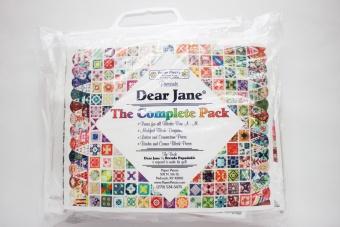 Dear Jane Quilt Papierschablonen komplett Paper Pieces