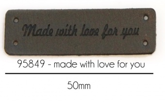 """Lederlabel """"Made with love"""" Label"""