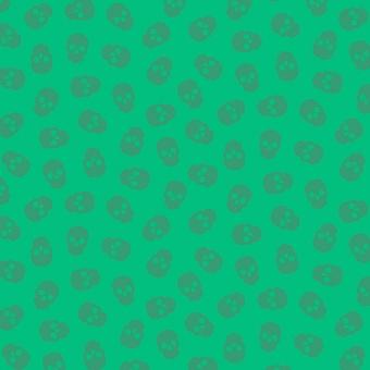 "Lime Tainted Love Totenkopfstoff - Libs Elliott ""The Watcher"" Designerstoff - Andover Fabrics Patchworkstoffe"