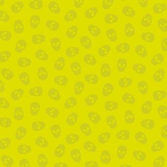 "Citrus Tainted Love Totenkopfstoff - Libs Elliott ""The Watcher"" Designerstoff - Andover Fabrics Patchworkstoffe"