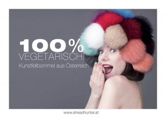 Vegane Kunstfellbommel - Aheadhunter PomPoms - Mützenbommel aus Österreich