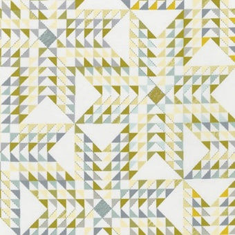 Lemon Triangles Faux Patchworkstoffe - Studio Stash by Jennifer Sampou