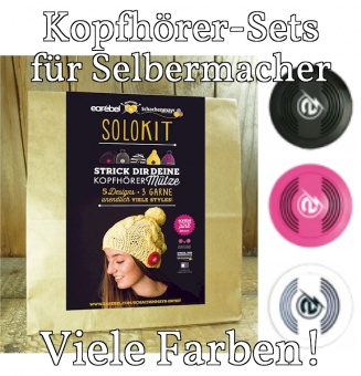 Alle Farben! Earebel Kopfhörer - Herausnehmbare Bluetooth Solo für Selbermacher