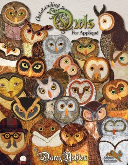 Outstanding Owls for Appliqué - Darcy Ashton