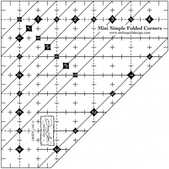 Bonnie K. Hunter's Mystery Lineal - Mini Simple Folded Corners Ruler - Doug Leko's Antler Quilt Design