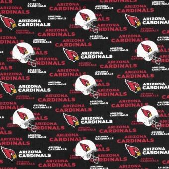 Arizona Cardinals Motivstoff - Original NFL Lizenzstoff - American Football Meterware