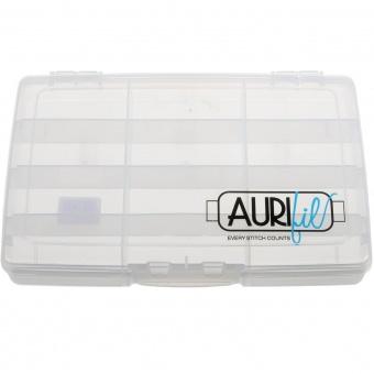 Leere Aurifil Garnspulenbox - Aurifil Garnsortimentskasten - Klarsicht Garnschatulle