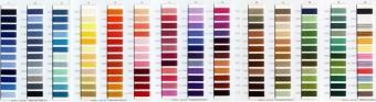 Aurifil Garnmusterkarte - Farbkarte aller Baumwollgarne mit echtem Garn