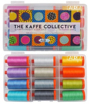 The Kaffe Collective Collection by Kaffe Fassett & Liza Lucy 50wt 12 Spulen Aurifil Garnsortiment