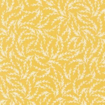 Curry Leafy Branch - Elizabeth Hartman Pond Weiße Ästchen auf Gelb Curry