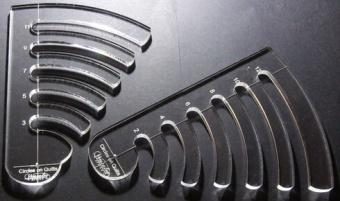 Kreisquiltschablone - Circle on Quilts Template für Ruler Foot Linealfuß / Rulerfuß