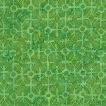 Grüner Batikstoff mit morokkanischem Fliesenmuster - Grass Tiles Tonga Batik - Judy & Judel Niemeyer