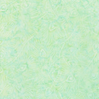 Minztürkise Pfauenfedern - Surf Tonga Batik - Timeless Treasures Summer Smiles Collection by Judy & Judel Niemeyer
