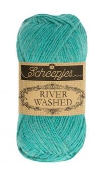 Scheepjes River Washed - ALLE FARBEN! Häkelgarn & Strickgarn mit 2-Tone Multicolor-Effekt #952  Rhine
