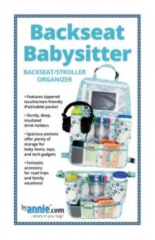Auto Rücksitzorganizer / Reise-Caddy Rückenlehnentasche - Backseat Babysitter Stroller Organizer - by Annie Schnittmuster