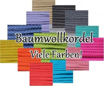Baumwollkordel / Anorakkordel - 2mm Breite - VIELE FARBEN! METERWARE