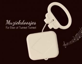Spieluhr / Spieldose / Musikdose zum Einlegen / Einnähen / Einstricken / Einhäkeln