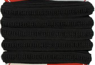 Antidruckstellen Maskengummi - Baby Elastic - 5m Karte Gummizug / Gummitwist / Gummiband / Gummizug  - elastisch für Behelfsmasken & Babykleidung - Schwarz