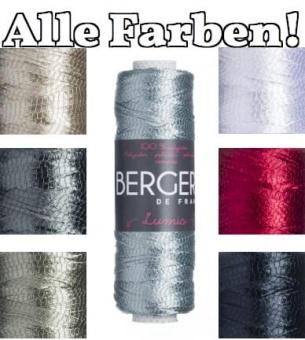 Lumis Strickgarn - Beilaufgarn im Metallic Look - Alle Farben! - Bergere de France